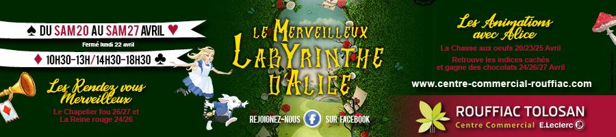 Labyrinthe Alice anim Paques Leclerc Rouffiac