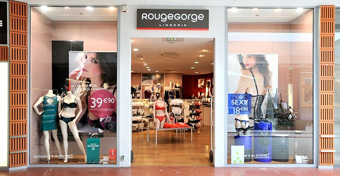 Devanture RougeGorge Lingerie Rouffiac