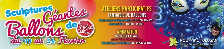 Animation décor géant en ballons cc Leclerc Rouffiac